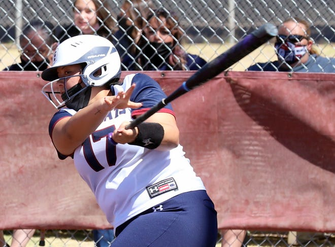 Junior Lady 'Cat Nayeli Trujillo is among the hit leaders for the Deming High Lady Wildcats.