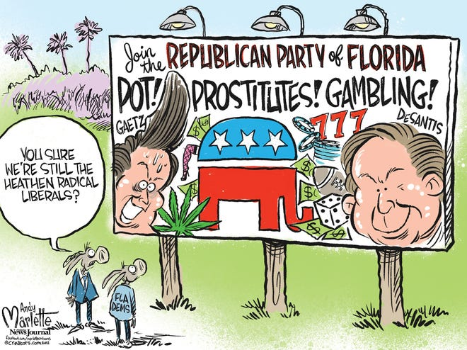 Marlette cartoon: Florida Democrats becoming the party of family values?