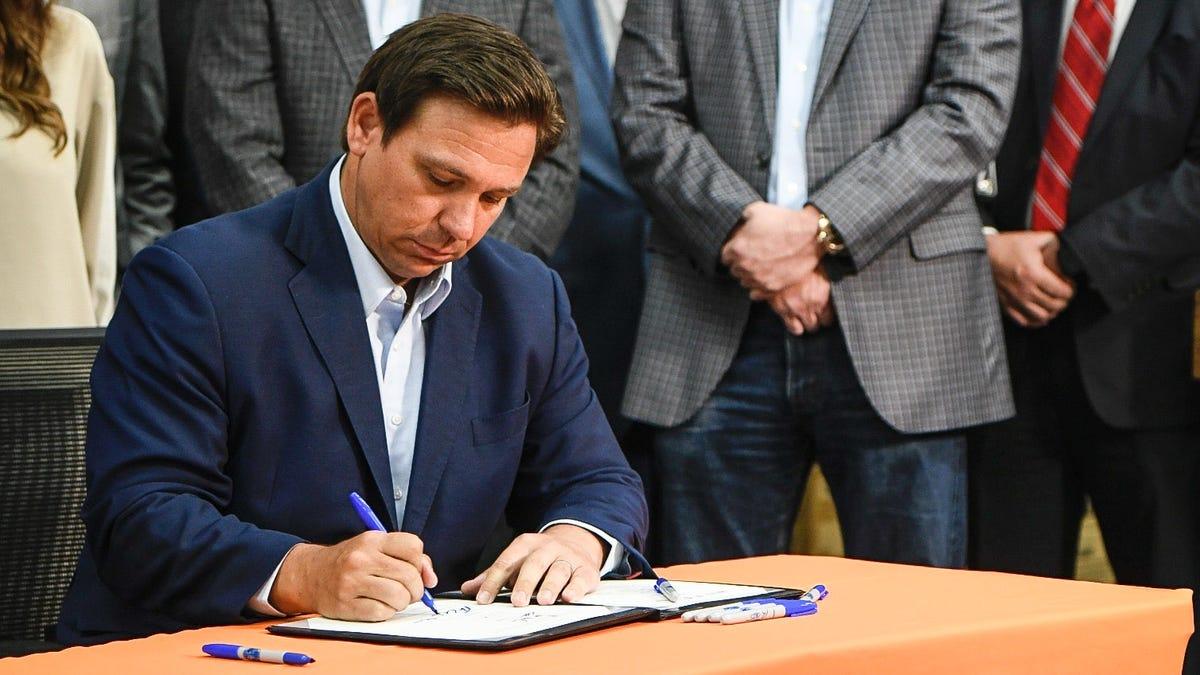 Gov. Ron DeSantis signs $200 million Florida sales tax holiday bill in Pensacola 2