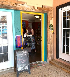Megan Gentry teaches private art lessons, makes jewelry,resin art, mugs and paints in her studio at the Chicken Farm Art Center, 2503 Martin Luther King Blvd.