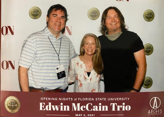 May 2021, the Dowlings and Edwin at Opening Nights at FSU presents Edwin McCain live at the Moon.