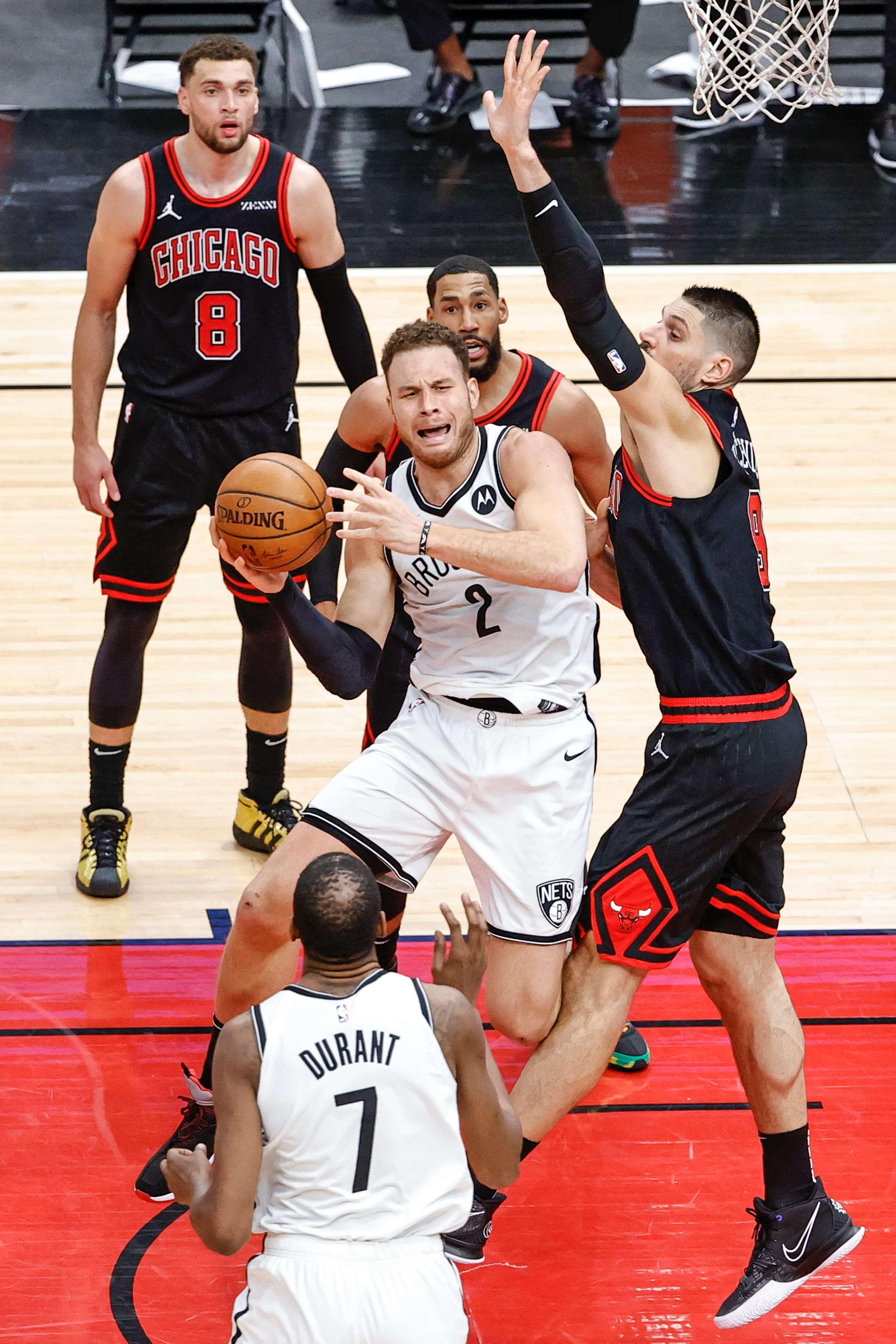 The Nets have also been trying to incorporate Blake Griffin (2), acquired in the buyout market in March, into their lineup with Kevin Durant and their other All-Stars.
