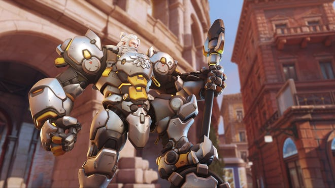 Reinhardt is one of the 'Tank' characters players can choose in 'Overwatch 2.'