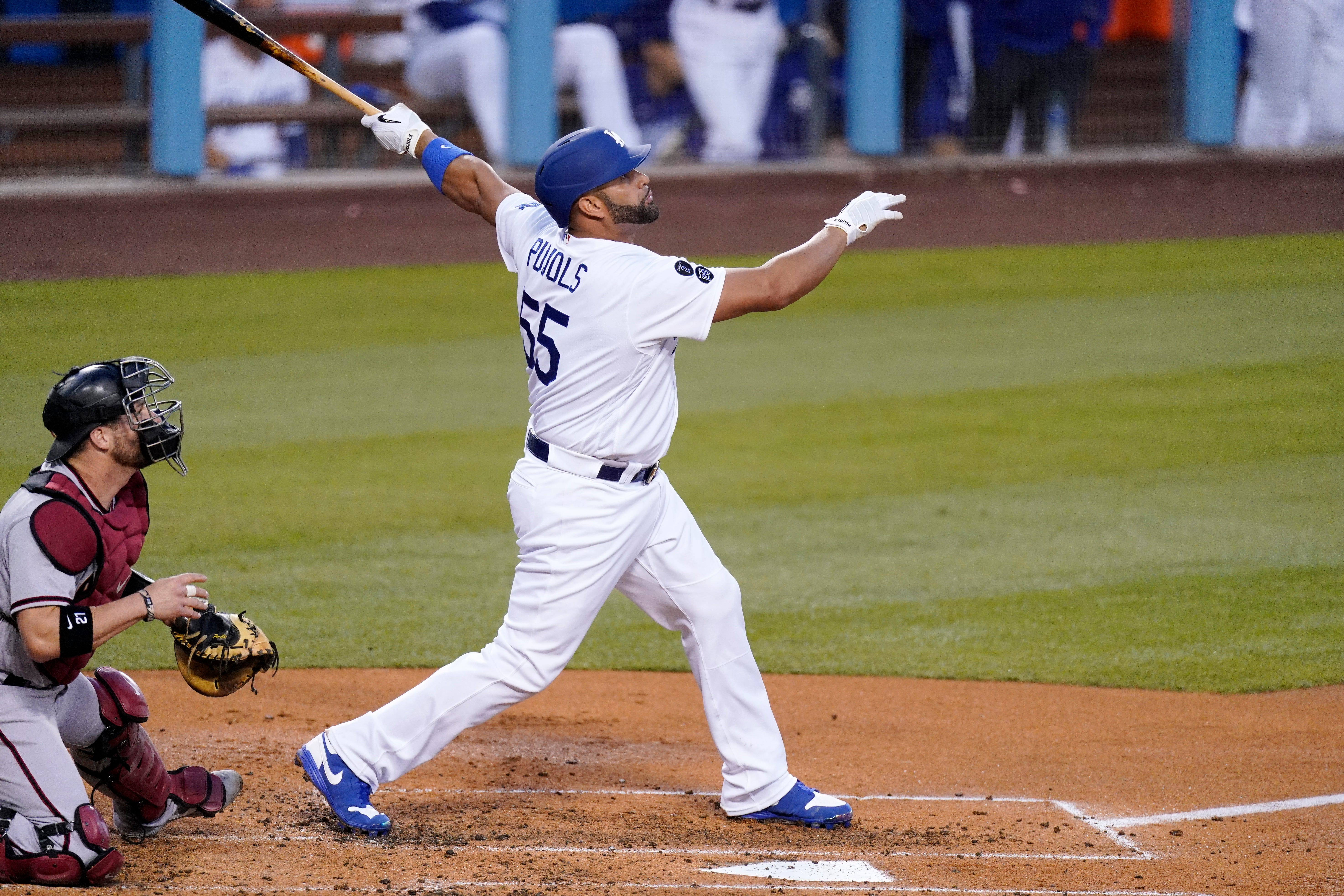 Albert Pujols goes deep for his first home run as a Dodger
