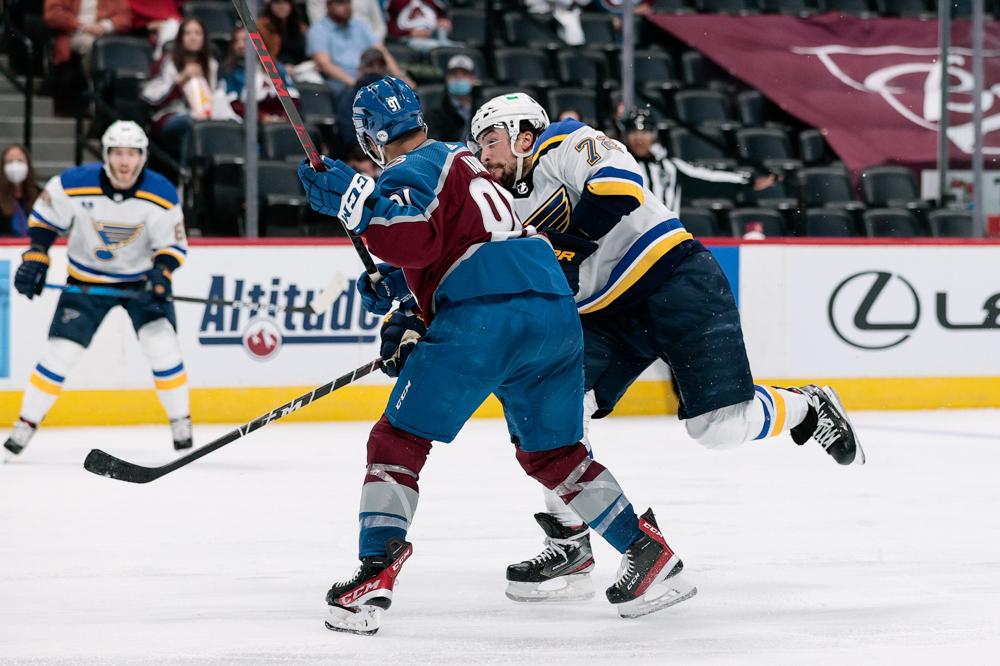 Colorado Avalanche s Nazem Kadri suspended eight games for hit to head of St. Louis Blues  Justin Faulk