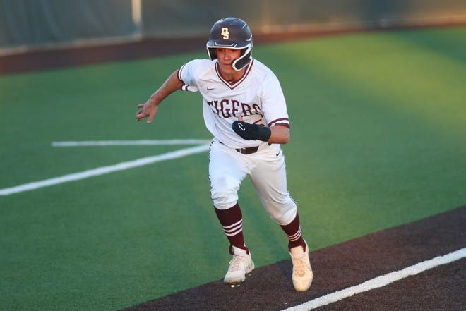 Luke Hudson, seen in an earlier game, scored the lone run in Dripping Springs' win Friday over Alamo Heights.