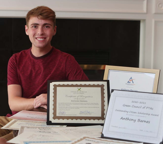 Anthony Barnes, a graduating senior from Green High School, is one of four seniors selected as the top winners in Star Students, an annual program by the Akron Beacon Journal, The Record-Courier, The Canton Repository and The Daily Record to recognize the region's outstanding high school graduates.