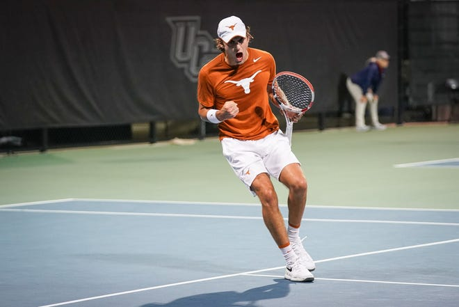 Texas sophomore Eliot Spizzirri was a driving force for the fourth-ranked Longhorns all season they reached the NCAA national semifinals in Orlando, Fla.