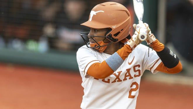 Janae Jefferson got the Longhorns off to a fast start Friday, hitting a double to deep center and scoring on a sacrifice fly. She was 3-for-4 with two runs and two RBIs.