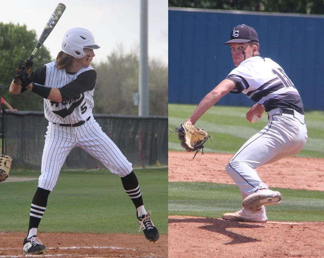 Lone Grove's Gavin Peery, left, and Kort McCurtain were named to the 2021 Oklahoma Baseball Coaches Association All-State Middle West team.