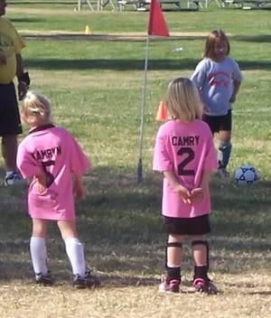 Kamryn Hudspopillar and Camry Young played on the same soccer team as youngsters.