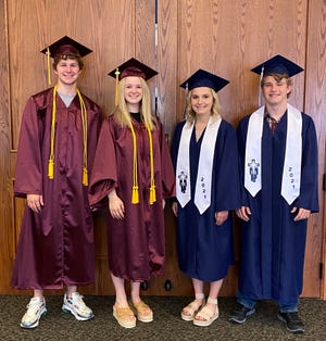 Twins Cooper and Camry Young and Kamryn and Kooper Hudsonpillar all grew up in Hays and were set to graduate from Hays High School and Thomas More Prep-Marian this weekend.