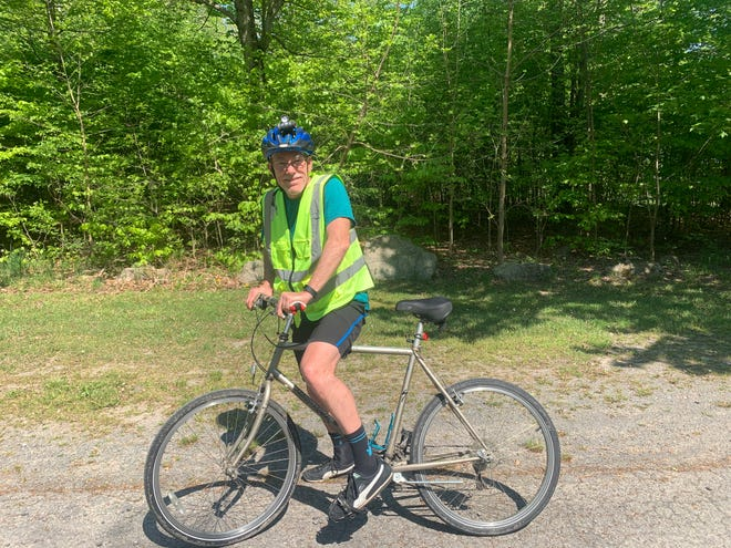 Chuck Monts is bicycling across the country in June.