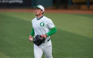 Oregon outfielder Aaron Zavala led the Ducks in batting average, runs, hits, slugging percentage, walksand stolen bases this season.