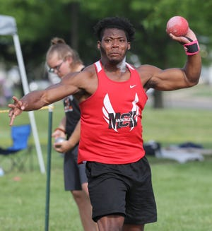McKinley's Emmanuel Powell has Stark County's top boys discus and shot put throws this season.