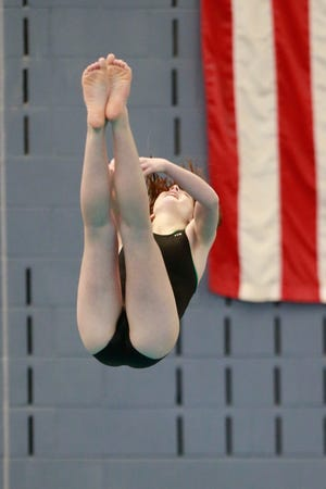 Salina South's Kamryn Kelsey placed fourth in Saturday's Class 5-1A state meet at Capitol Federal Natatorium.