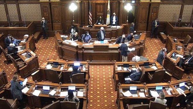 The Illinois Senate floor.