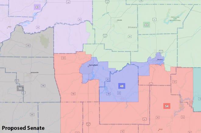 Proposed 2021 Illinois Senate legislative map (Source: www.ilsenateredistricting.com)