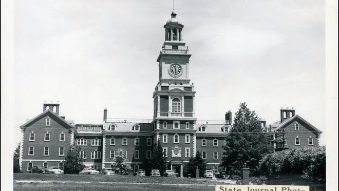 This image from the Topeka State Journal archives shows the Menninger property and clock tower when it was still in use. Menninger's reputation made Kansas one of the U.S. leaders in psychiatry.