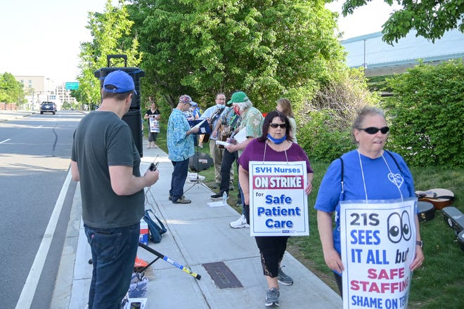Nurses have been walking the picket line since March.
