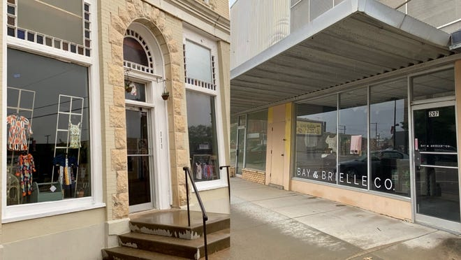 5 Sisters Mercantile (left) and Bay & Brielle Co. (right) getting ready for their grand opening on Saturday, May 22