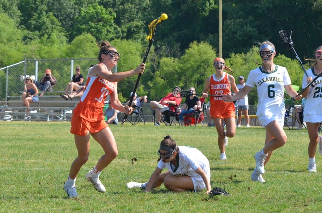 Cherokee junior Aly Mascolo takes a shot against Clearview
