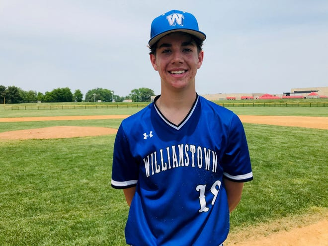 Williamstown's Chris Montone got the win against Cherokee in the Diamond Classic semifinals on Saturday, going six-plus innings.