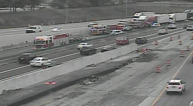 I-75 at South of I-74 closed due to crash