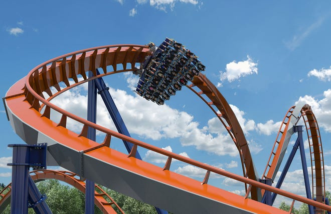 In this file photo, park goers at Cedar Point ride the Valravn.