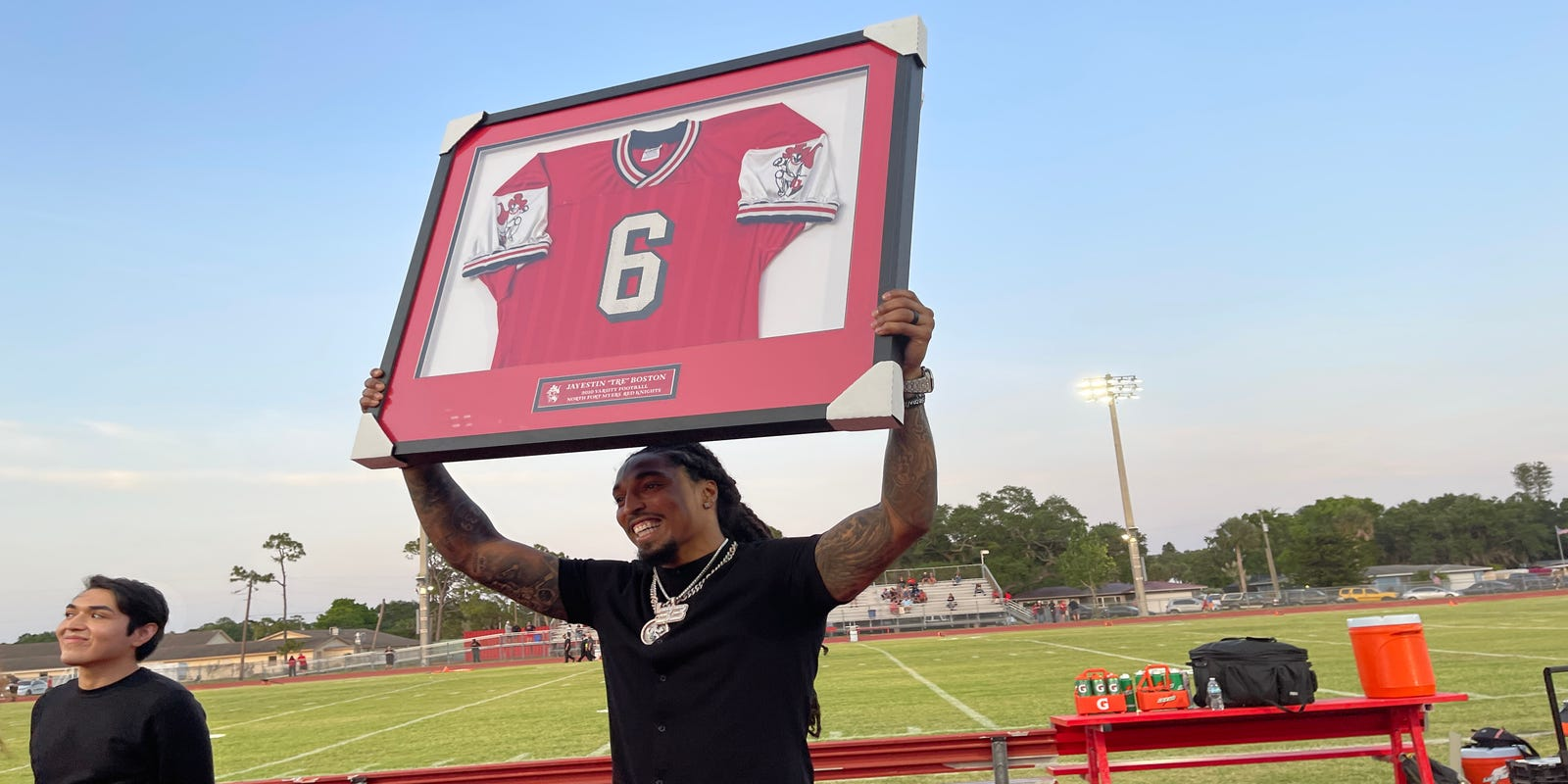 North Fort Myers alum Tre Boston's jersey retired at Moody Field
