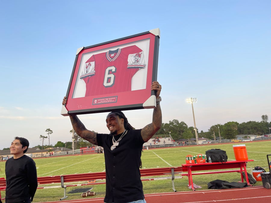 Tre Boston Returns To North Fort Myers For Jersey Retirement