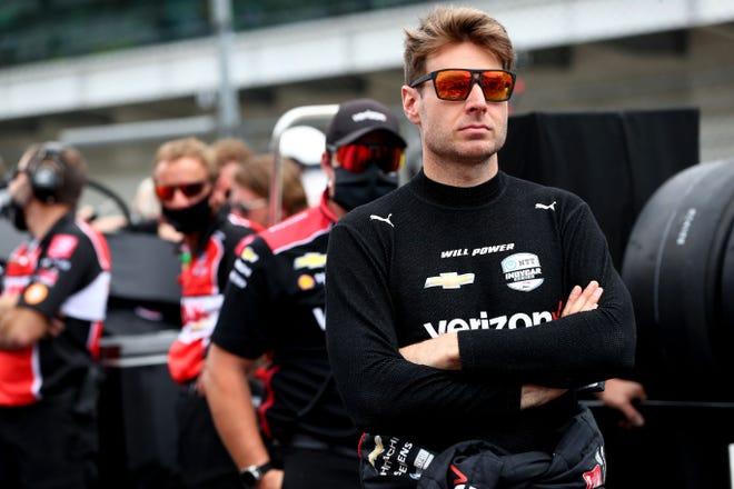 Mientras califica para la carrera 105 de las 500 Millas de Indianápolis en el Indianapolis Motor Speedway, se espera que el piloto del equipo Penske Will Power (12) califique el sábado 22 de mayo de 2021.