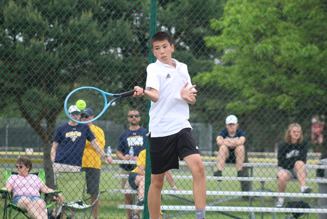 Lexington's Ethan Remy was named to the 2021 All-Mansfield News Journal Boys Tennis first team.
