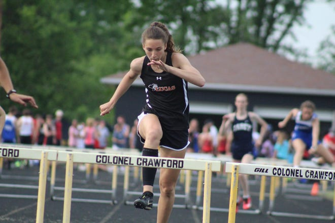 Lucas' Shelby Grover was named the co-Mid-Buckeye Conference Running MVP in girls track and field after a stellar sophomore season.