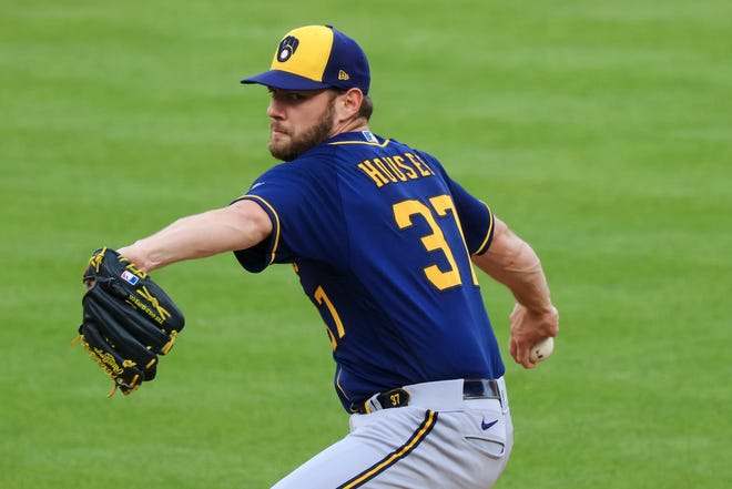 Brewers' starter Adrian Houser gave up three homers and six runs in four innings Friday night