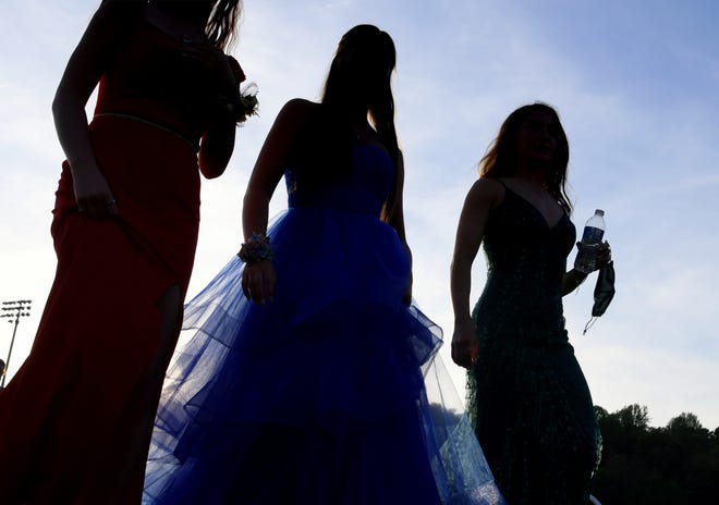 """Susquehannock High School students turn out for the """"Susky Under the Stars"""" prom Friday, May 21, 2021. The event was held at the school's stadium. Bill Kalina photo"""