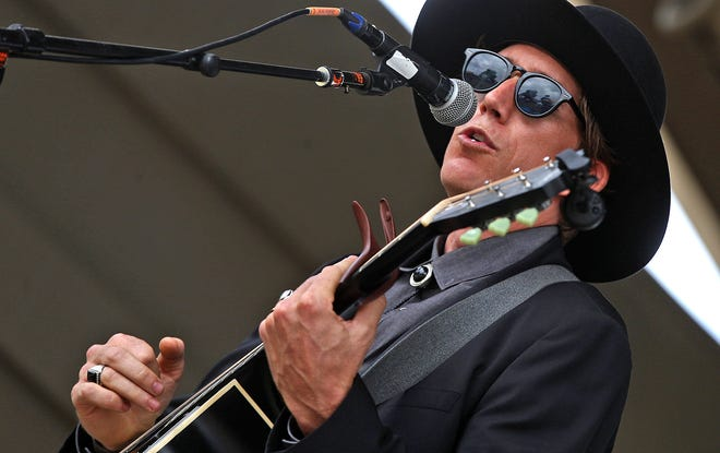 Jhett Black performs on the Bill Aylor Memorial River Stage on Saturday during the 2021 Simply Texas Blues Festival on Saturday, May 22, 2021.