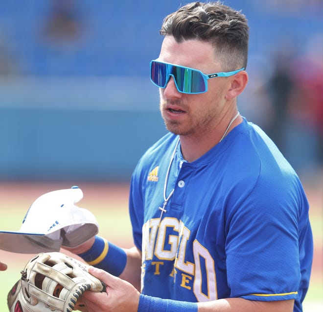 Angelo State University's Josh Elvir and the Rams faced Lubbock Christian in the Lone Star Conference Baseball Championship finals at Foster Field at 1st Community Credit Union Stadium on Saturday, May 22, 2021.