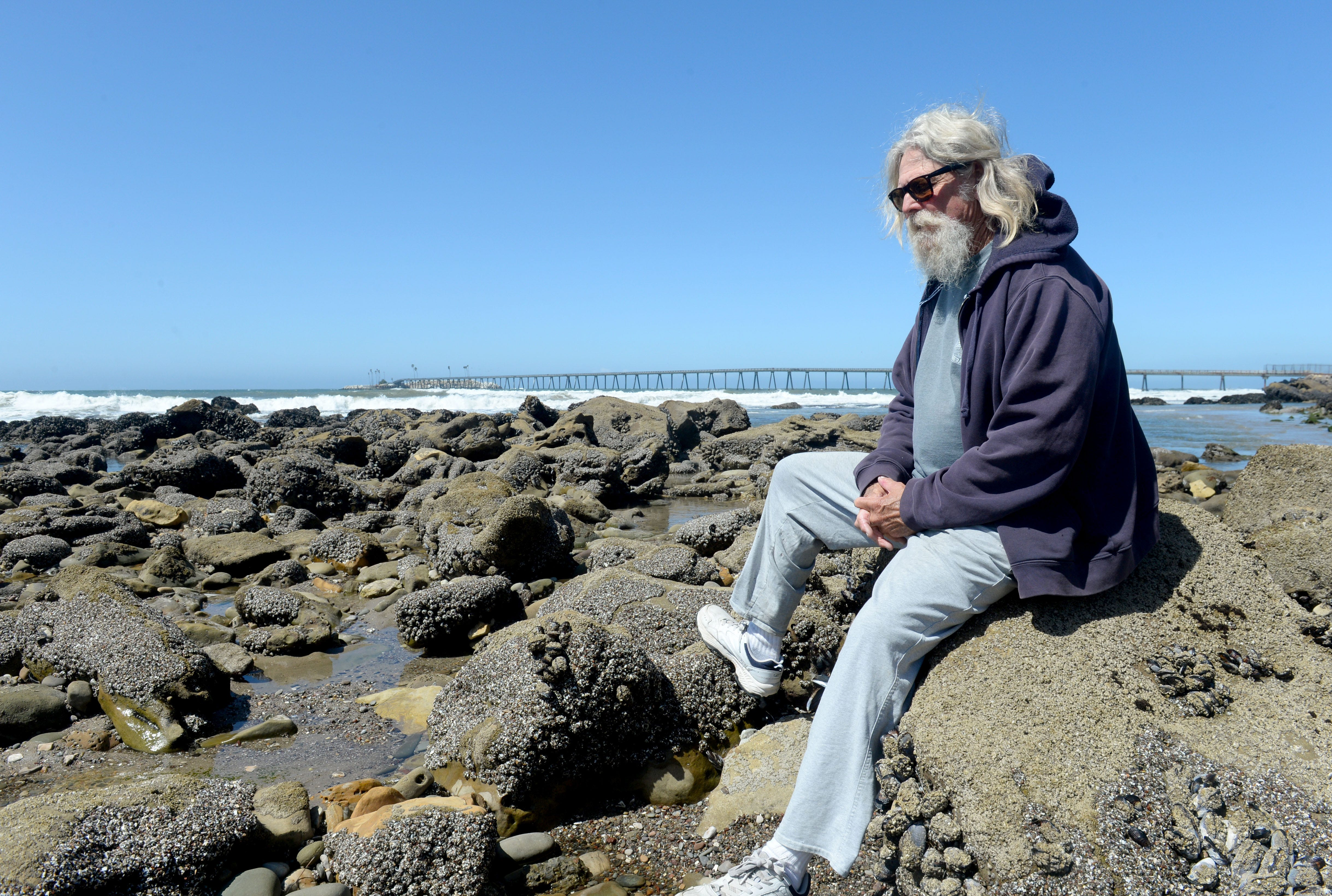"""Robert Brunner is a 49-year resident of Mussel Shoals and spent time working on the nearby Rincon Island causeway. """"I actually have some blood on that island,"""" he said."""