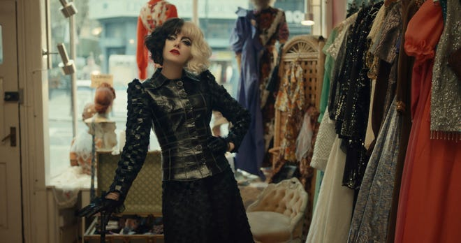 """Emma Stone plays the title role of """"Cruella"""" as a young fashion designer in London."""