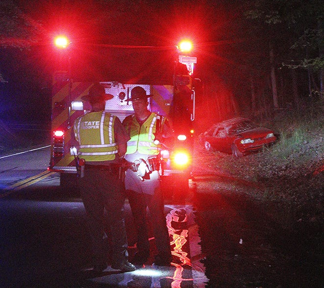 A Lucas man died in a crash Saturday night on state Route 603 in Mifflin Township.