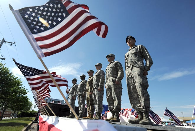 The annual Troops in the Spotlight event runs from 11:30 a.m. Sunday through midnight at the Capetown Plaza on Route 132 in Hyannis.