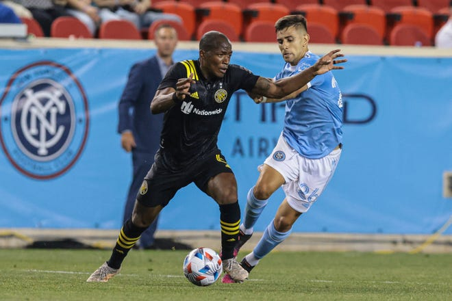 Midfielder Darlington Nagbe, left, will be one of the Crew's key players on Saturday with so many players out with injury or on international duty.