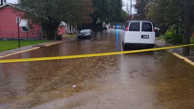 A wave of thunderstorms June 22 caused streets across Terrebonne and Lafourche to flood, including this one in Houma.