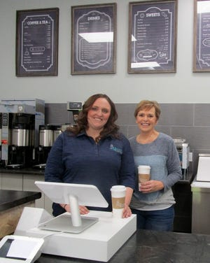 Kelly Wolf, left, is the opening Caffeine & Carbs, a coffee shop and bakery, at 1225 South Oakwood Ave., in Geneseo. Her mother, Karen Wolf, does the baking for the business.