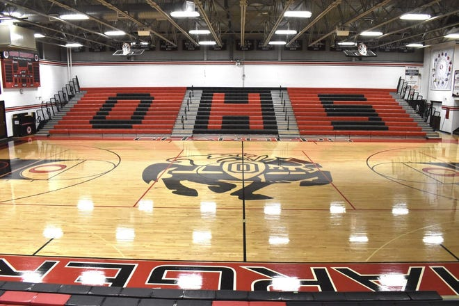 Orion gym floor, file photo