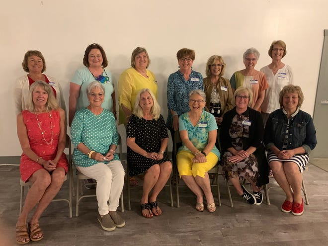 New officers were installed during the May 2021 meeting. Front row seated from left: Terri McDowell-1st Vice President, Cindy Aussieker-2nd Vice President, Darla Rohrer-President, Ellen Dobihal-Membership Chairman, Becky Maxwell-Board of Directors Member, Judy Rader-Parliamentary Advisor Back row standing from left: Nancy Wrage-Board of Directors, Mary Gleason-Board of Directors, Lynn Corley-Board of Directors, Marla Williams-Corresponding Secretary, Jan Bicknell-Board of Directors, Patti Becker-Recording Secretary, Barb Sahs-Treasurer.