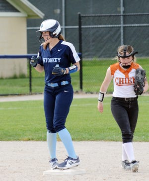 Petoskey's Kenzie Bromley had another solid couple games, which included a 5-for-5 game one and homer in game two.