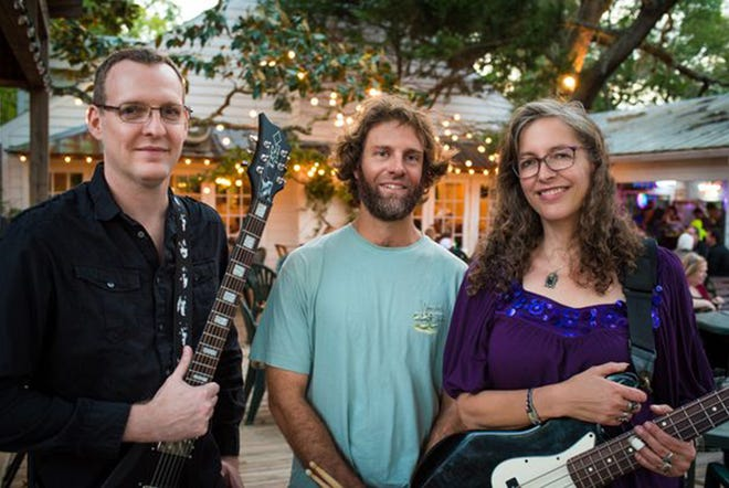 Grapes of Roth, which includes Matt VanRysdam (lead guitar, vocals), Trey Moore (drums) and Elizabeth Roth (bass, lead vocals), open up the annual Music by the Sea concert series at the St. Augustine Beach Pier Park pavilion.