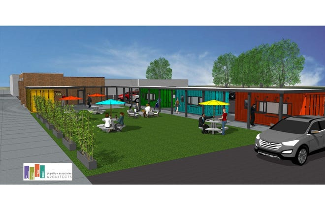 This is a rendering of the planned outdoor dining area at 2242 S. Sixth St.
